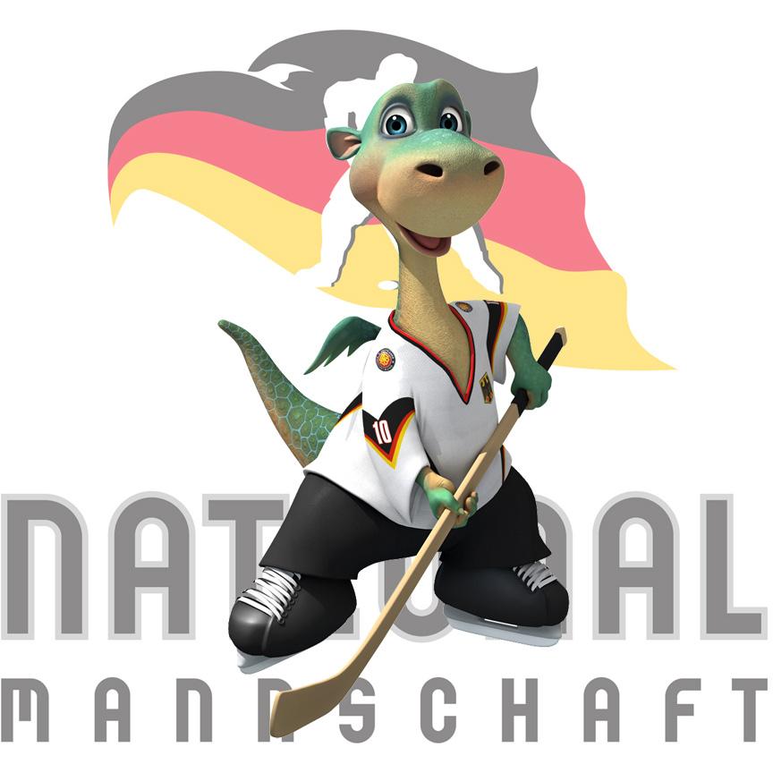 """""""Urmel auf dem Eis"""" / Das offizielle DEB-Maskottchen der Eishockey-Nationalmannschaft"""